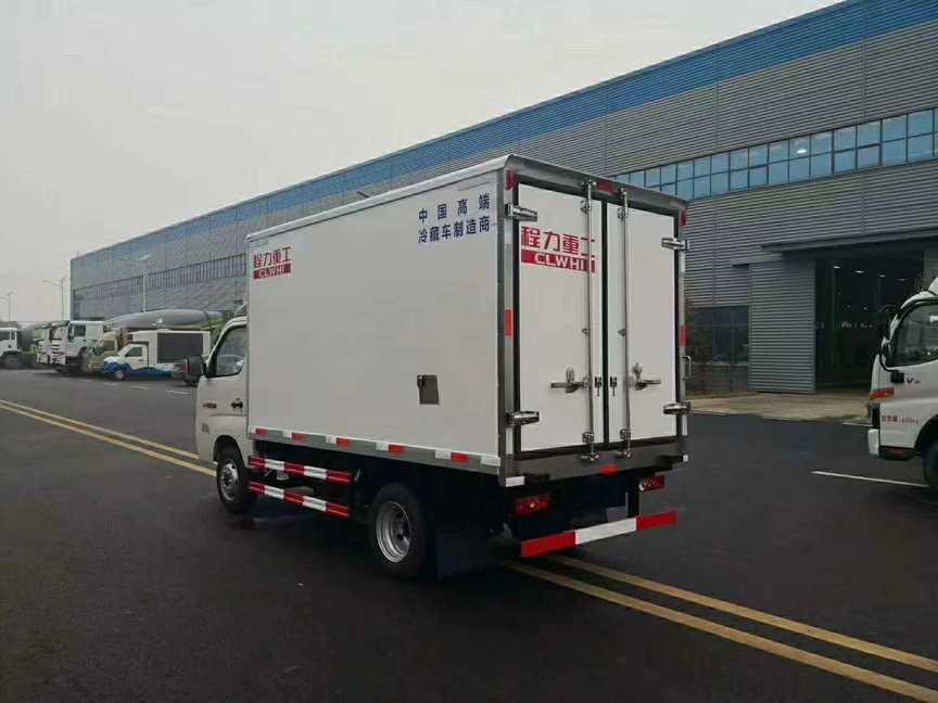 福田3米厢体猪肉冷藏运输车5度和15度冷藏机组可