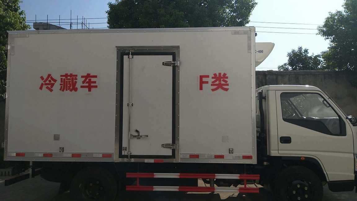 江铃宽体冷藏车猪肉对接冷肉钩冷藏车价格