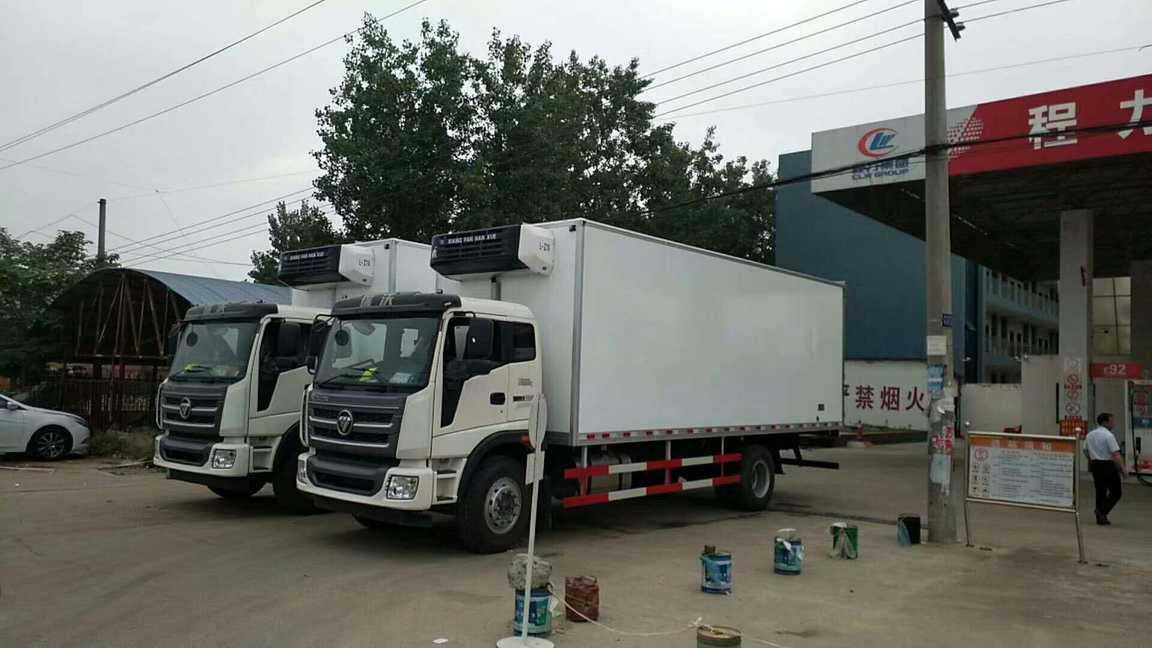 福田瑞沃6.8米货箱冷藏车
