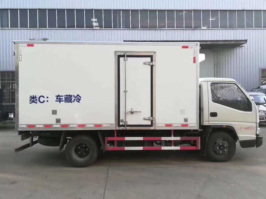 江铃蓝牌不超重4米厢长冷冻食品车
