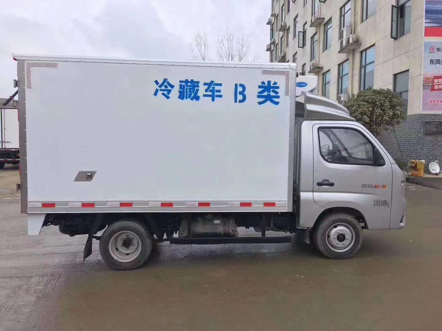 福田3米厢长冷冻车肉钩轨道冷藏车价格