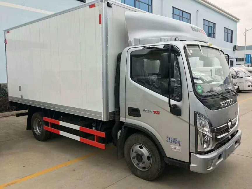 生鲜冷藏运送车福田奥铃4米厢长冷藏保温车价格