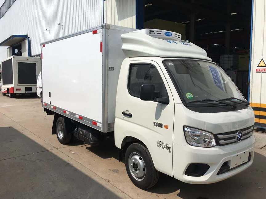 福田3.1米厢体蓝牌冷藏车冷冻车厂家最新价格
