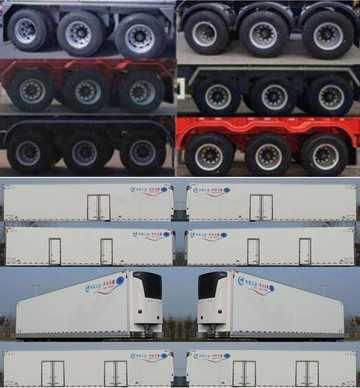 冷藏半挂车的定位系统货车可以改装冷藏车