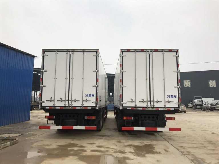东风天龙9.6米冷藏车 天龙9.6米肉钩车 9.6米冷链车